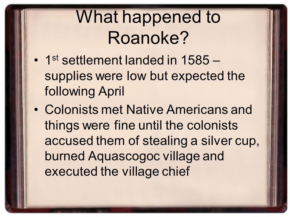 What happened to Roanoke.