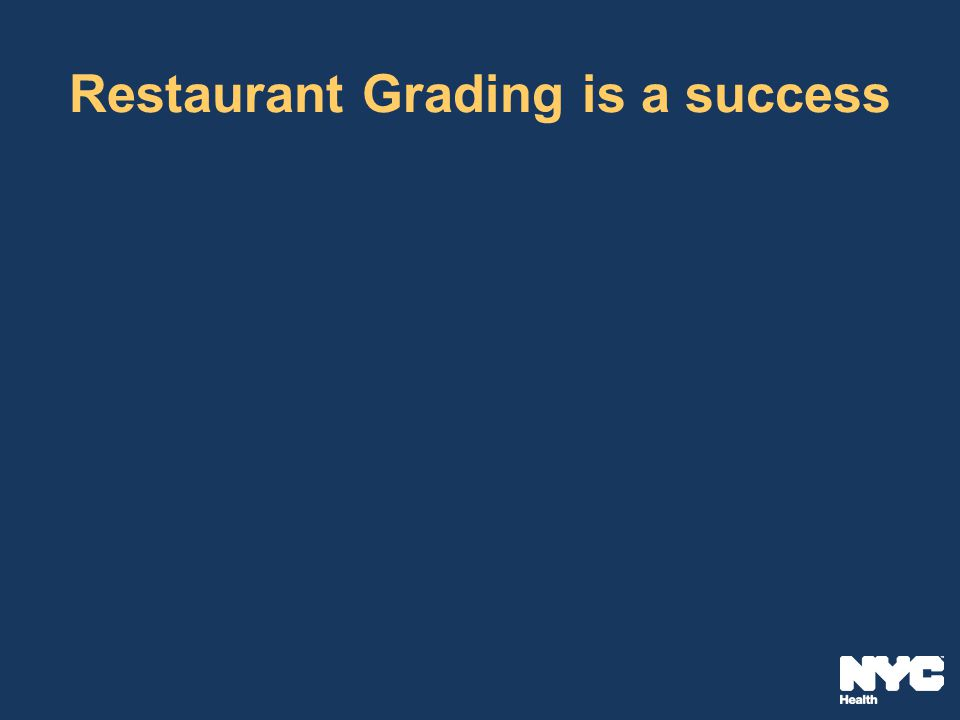 Restaurant Grading is a success