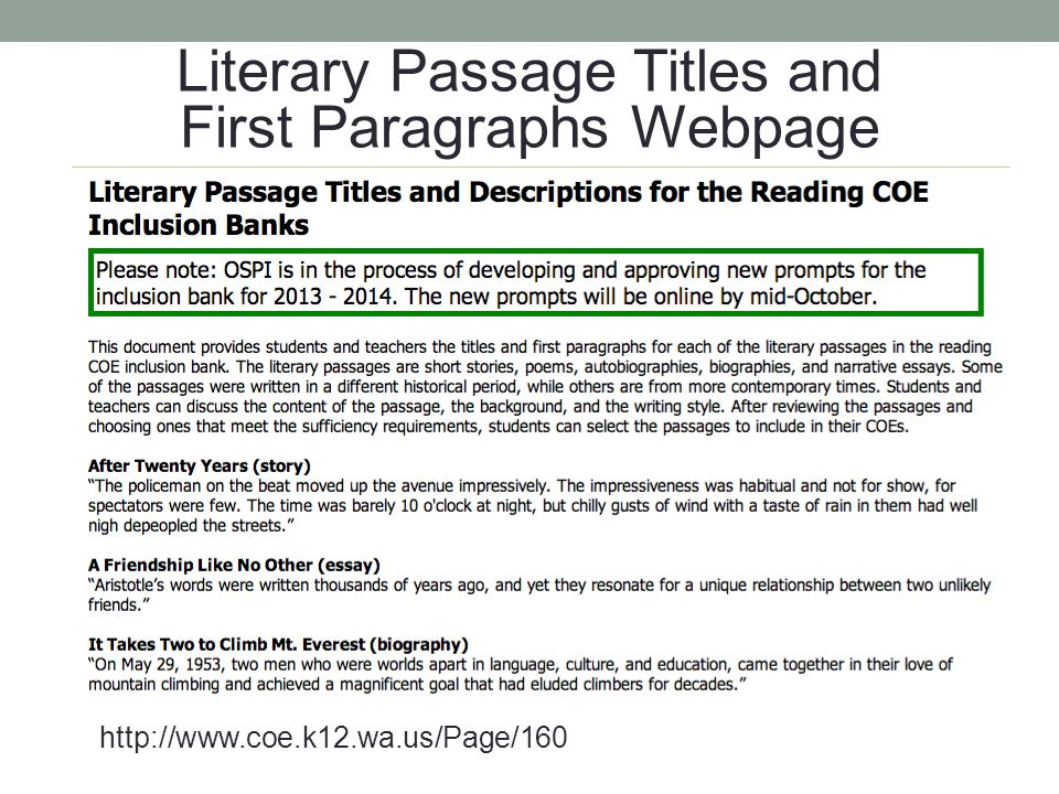 Literary Task Matrix Webpage http://www.coe.k12.wa.us/Page/159