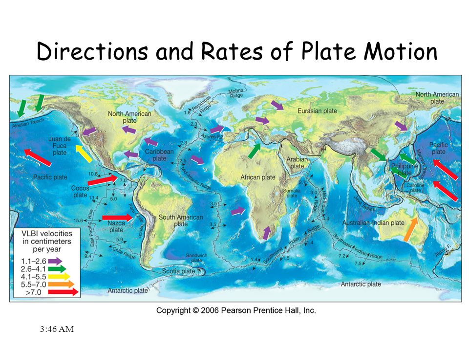 3:48 AM Directions and Rates of Plate Motion