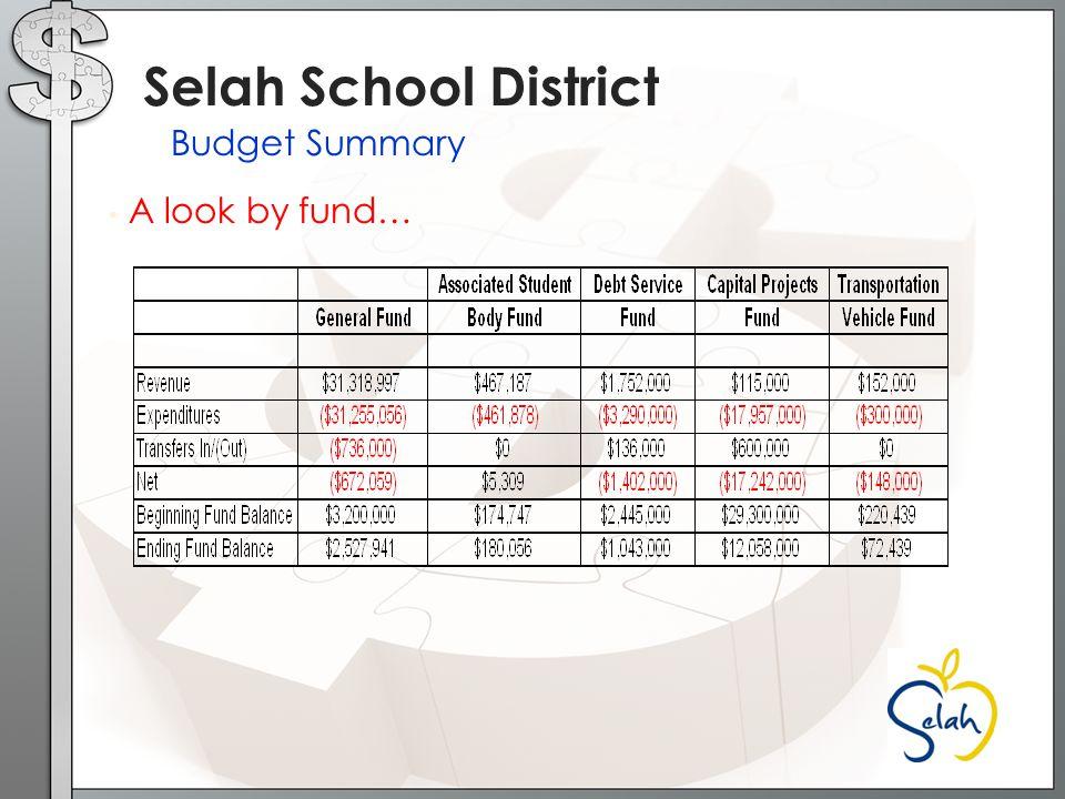A look at Revenues… Selah School District