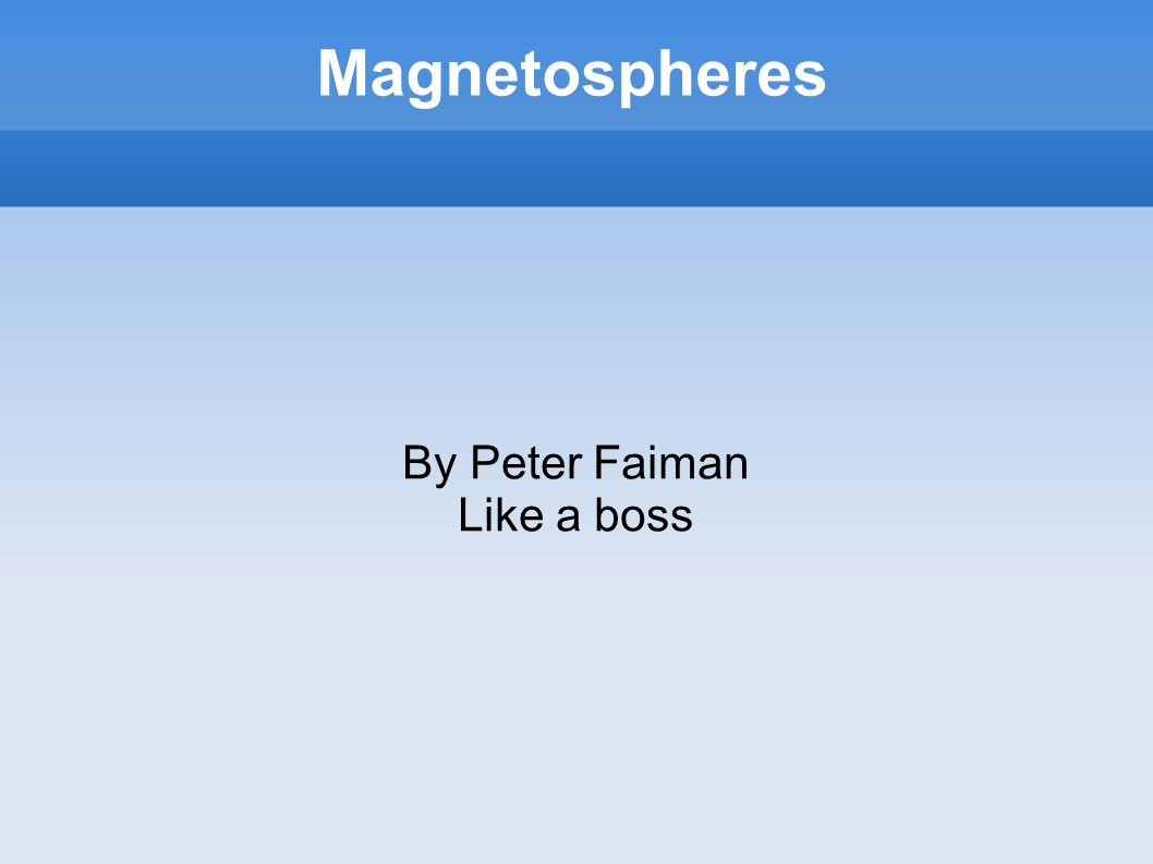 Magnetospheres By Peter Faiman Like a boss
