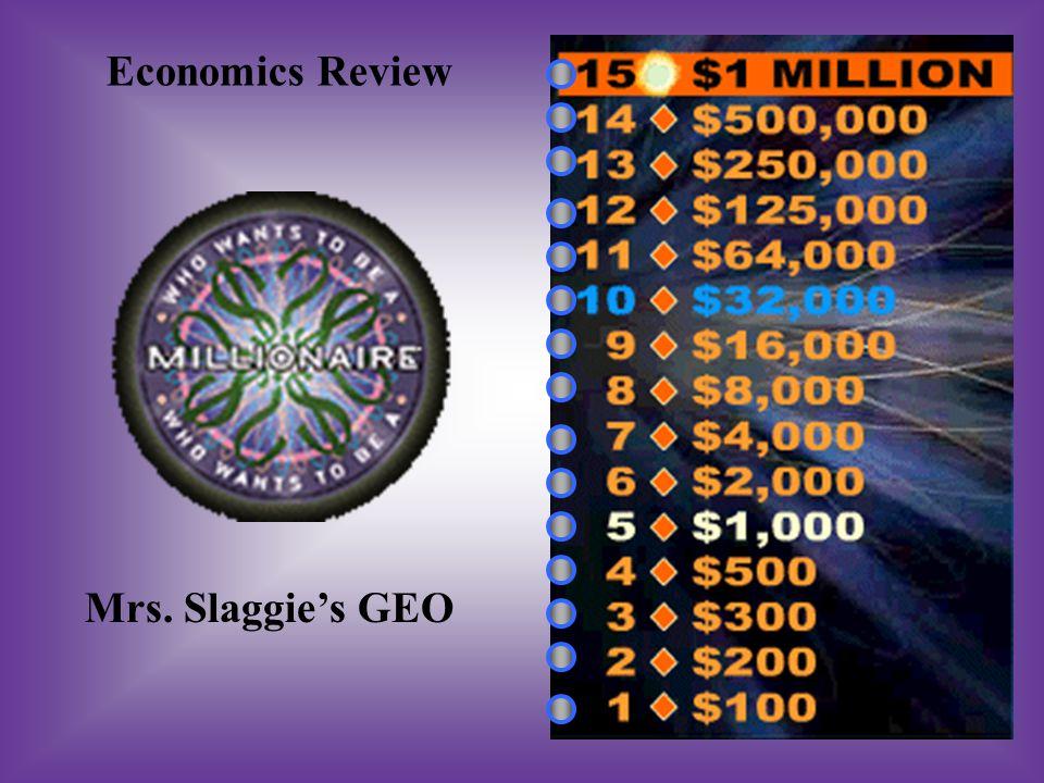 Economics Review Mrs. Slaggie's GEO