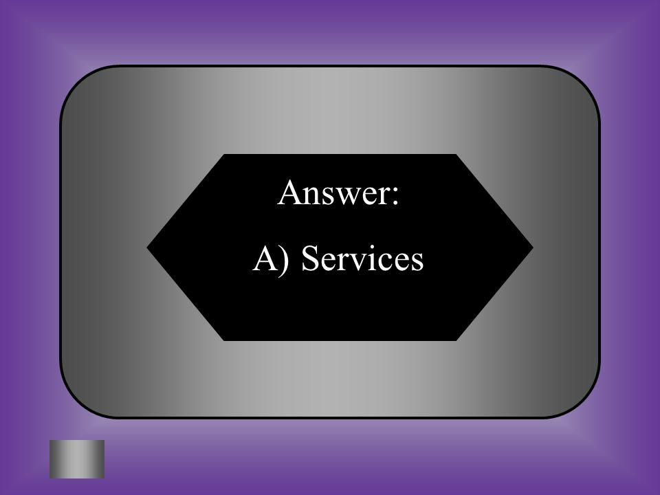 Answer: A) Services