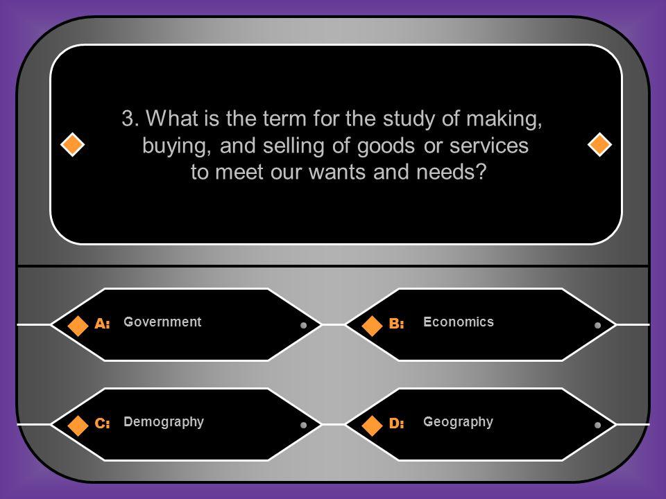 Answer: B) Economics