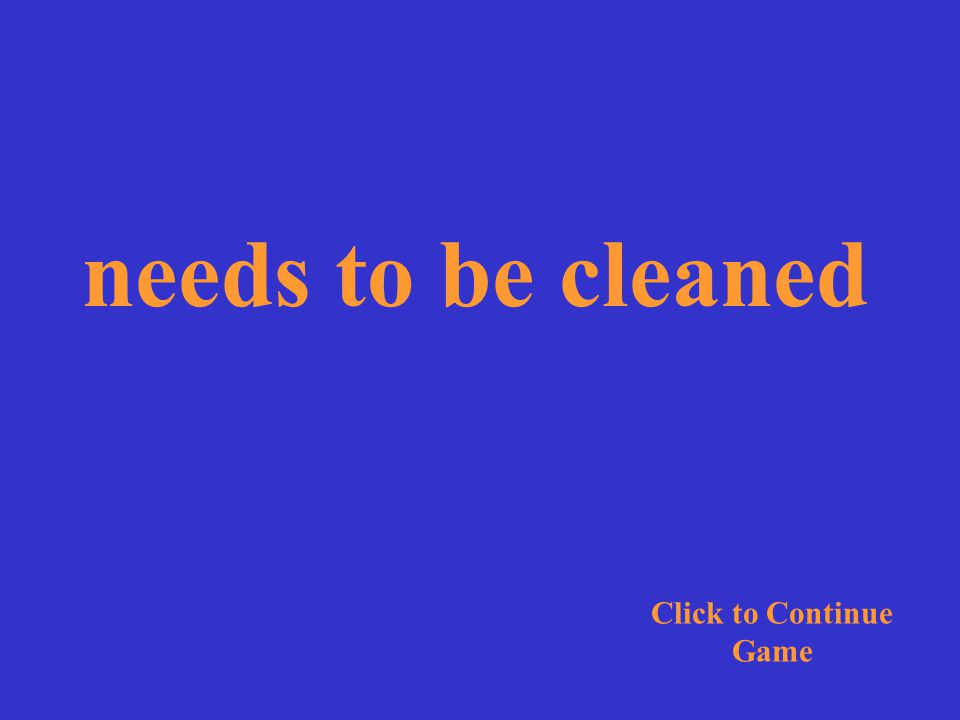 The bathroom needs to be cleaned. Click for Answer