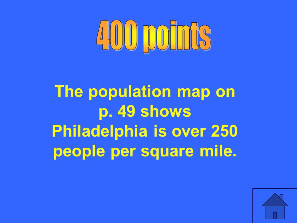 Find the thematic map that will answer the following question: What is the population of people per square mile in Philadelphia?