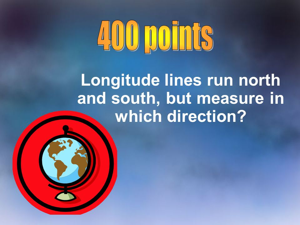 If you take a boat from Greenland to the United States, Which Intermediate Direction would you be traveling.