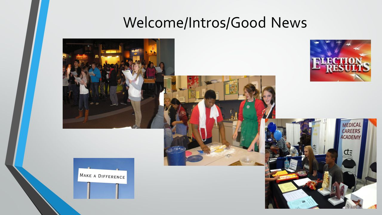 Welcome/Intros/Good News