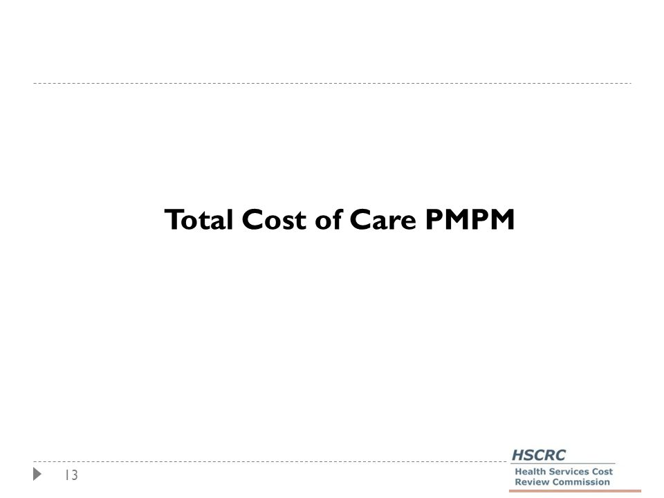 13 Total Cost of Care PMPM