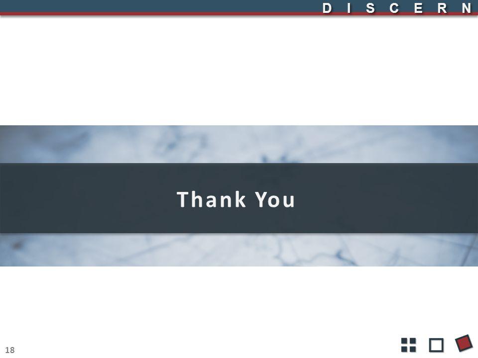 DISCERNDISCERN Thank You 18