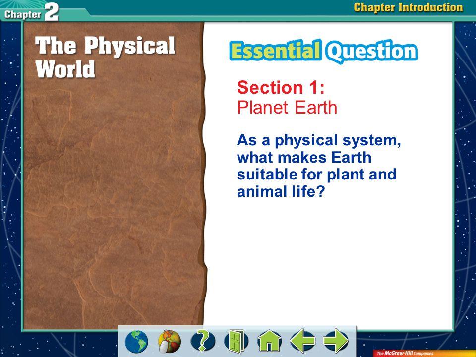 A.A B.B C.C D.D Section 1 Which term is the name for the Earth's crust.