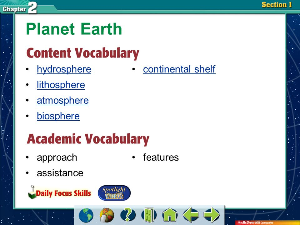 Vocab3 atmosphere a layer of gases that surrounds the Earth