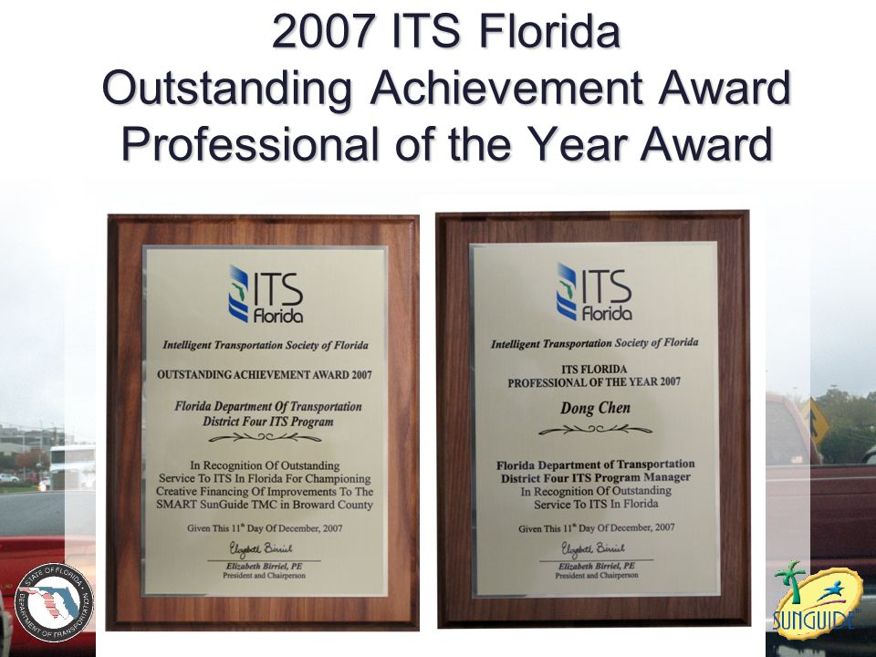 2007 ITS Florida Outstanding Achievement Award Professional of the Year Award