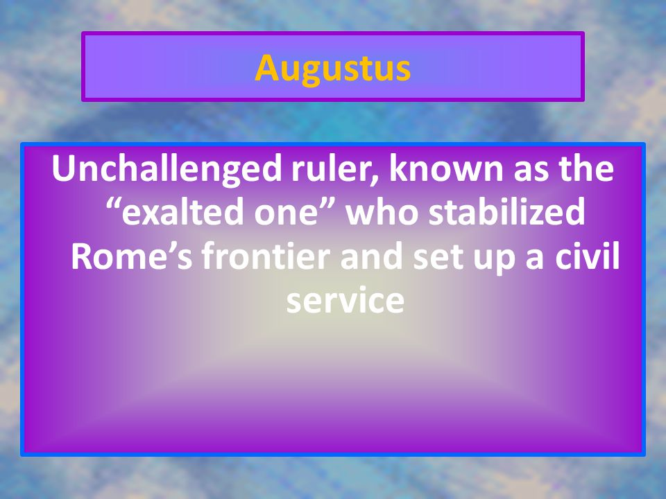 Triumvirate A group of 3 rulers for 10 years Julius Caesar was part of one.