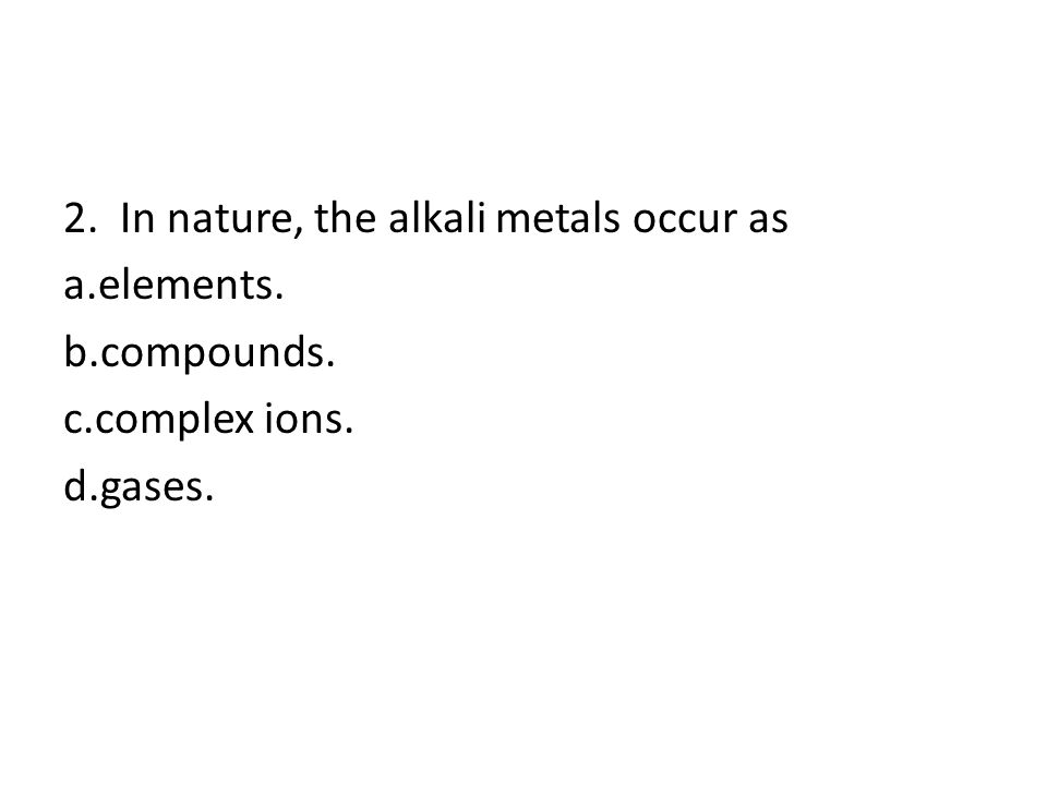 2 1.The most reactive group of the nonmetals is the a.