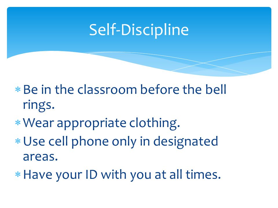  Respect rights of all students and staff.