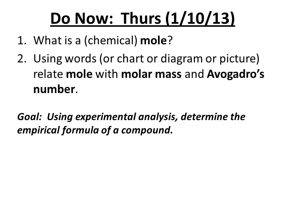 Do Now: Fri (1/11/13) 1.Ch.6 problem, #117 in text – p.