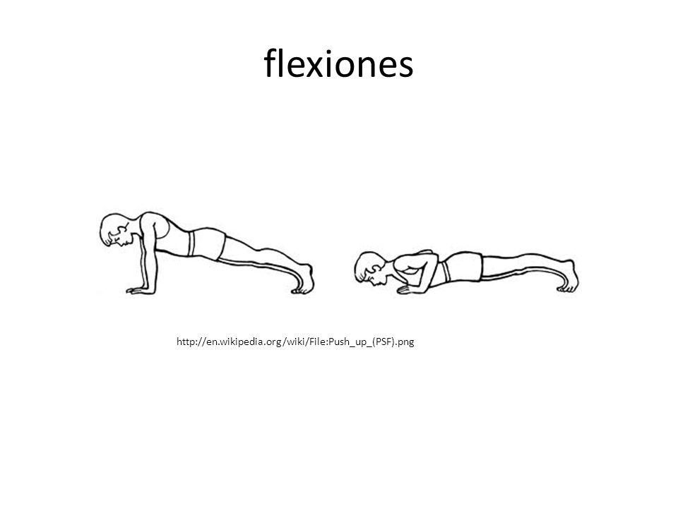 flexiones http://en.wikipedia.org/wiki/File:Push_up_(PSF).png