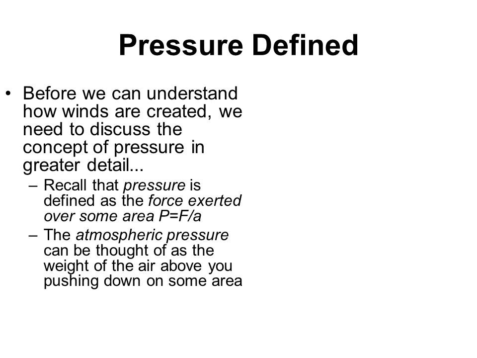 Surface Pressure vs. Sea Level Pressure