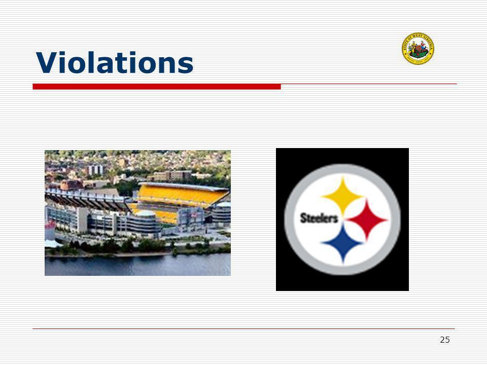 25 Violations
