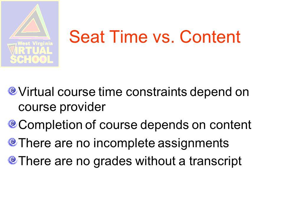 Seat Time vs.