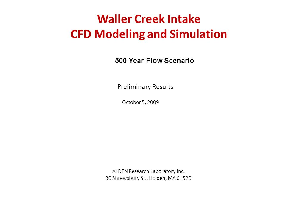 CFD model geometry with proposed flood control turning vane Flood control turning vane 12 3 4 5 6
