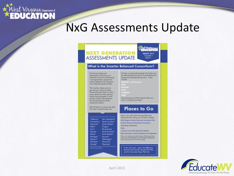 NxG Assessments Update April 2013