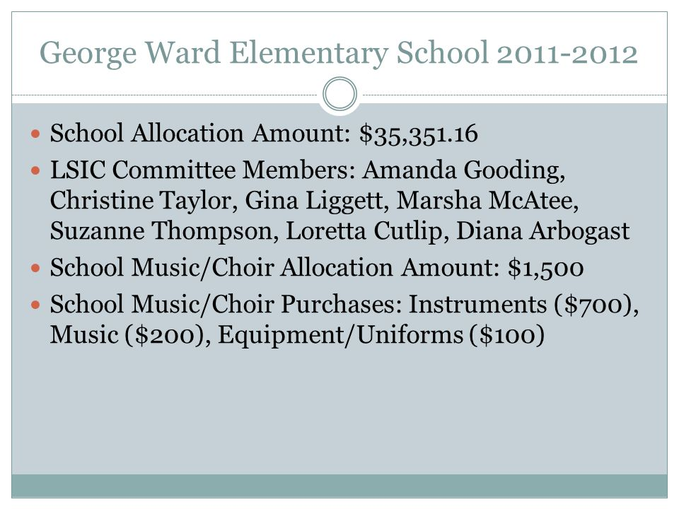 George Ward Elementary School 2011-2012