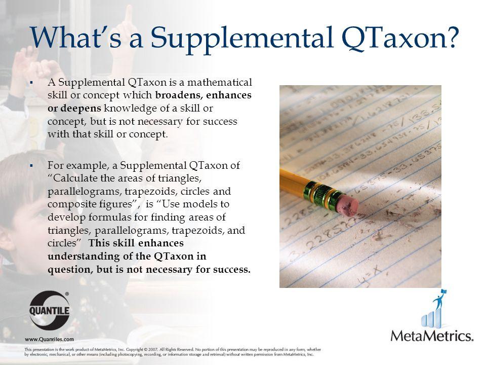 What's a Supplemental QTaxon.