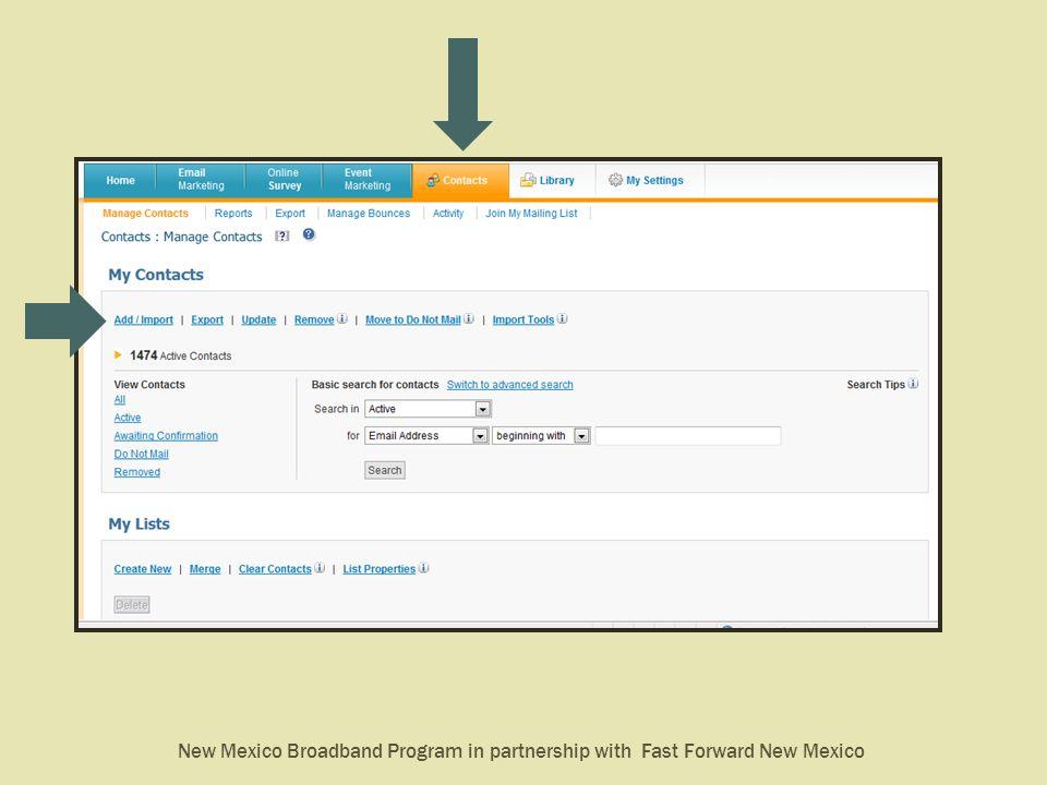 New Mexico Broadband Program in partnership with Fast Forward New Mexico