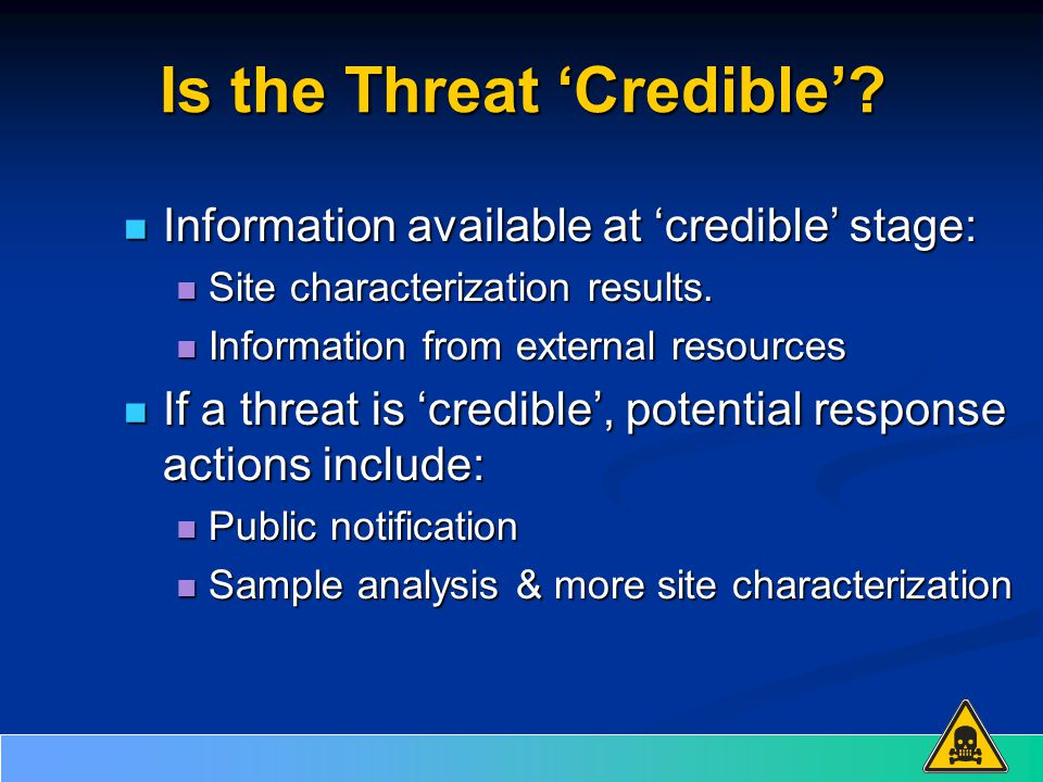 Is the Threat 'Credible'.