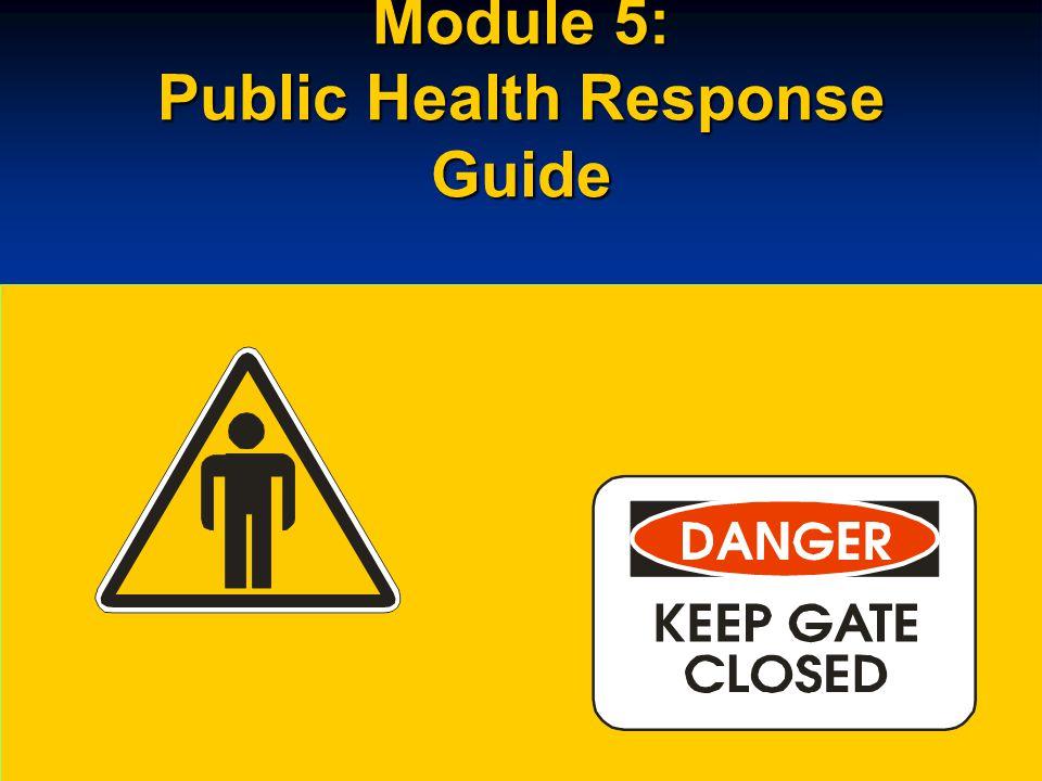 Module 5: Public Health Response Guide
