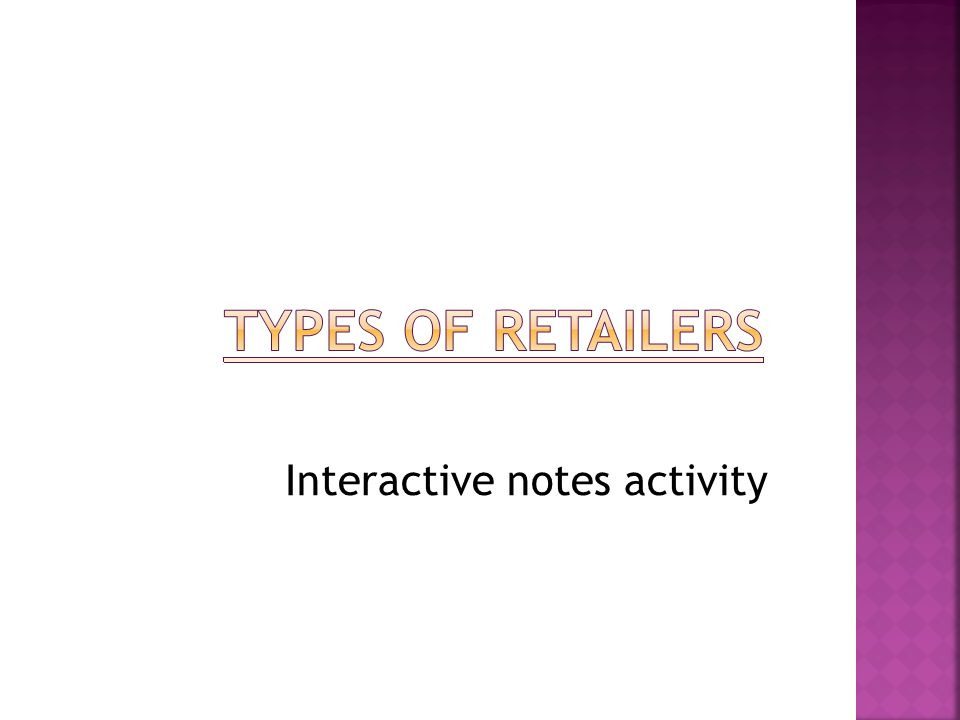 Interactive notes activity