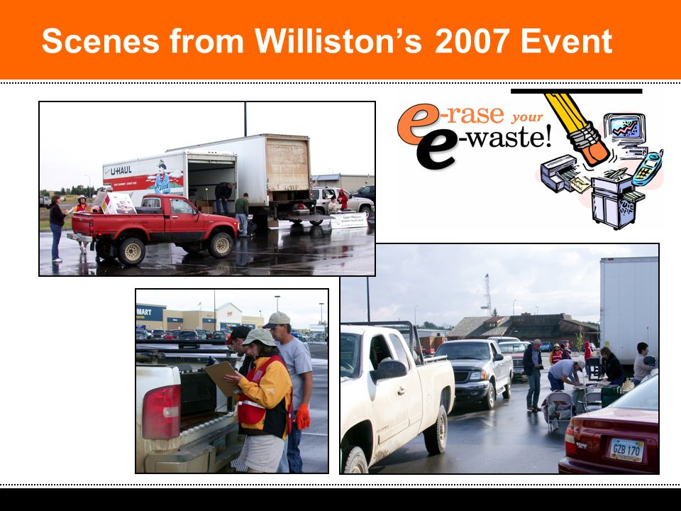2008 South Dakota Spring Solid Waste Operators Workshop: Ideas & Strategies Scenes from Williston's 2007 Event