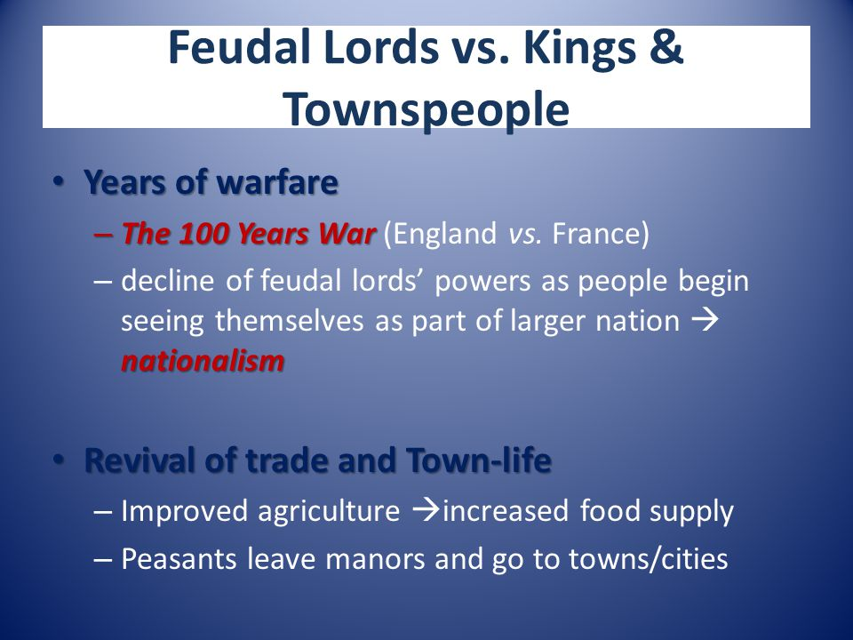 Feudal Lords vs.