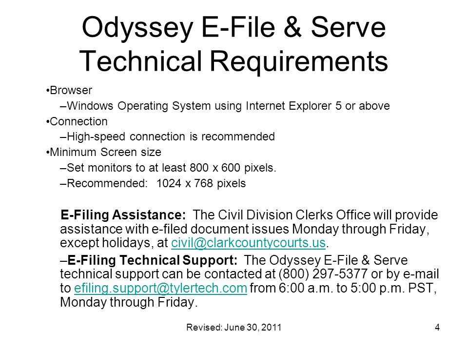 Revised: June 30, 201125 Details of Filing