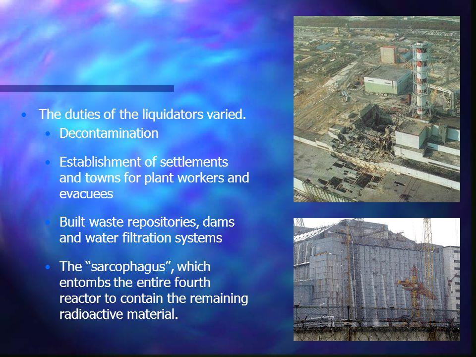 The duties of the liquidators varied.