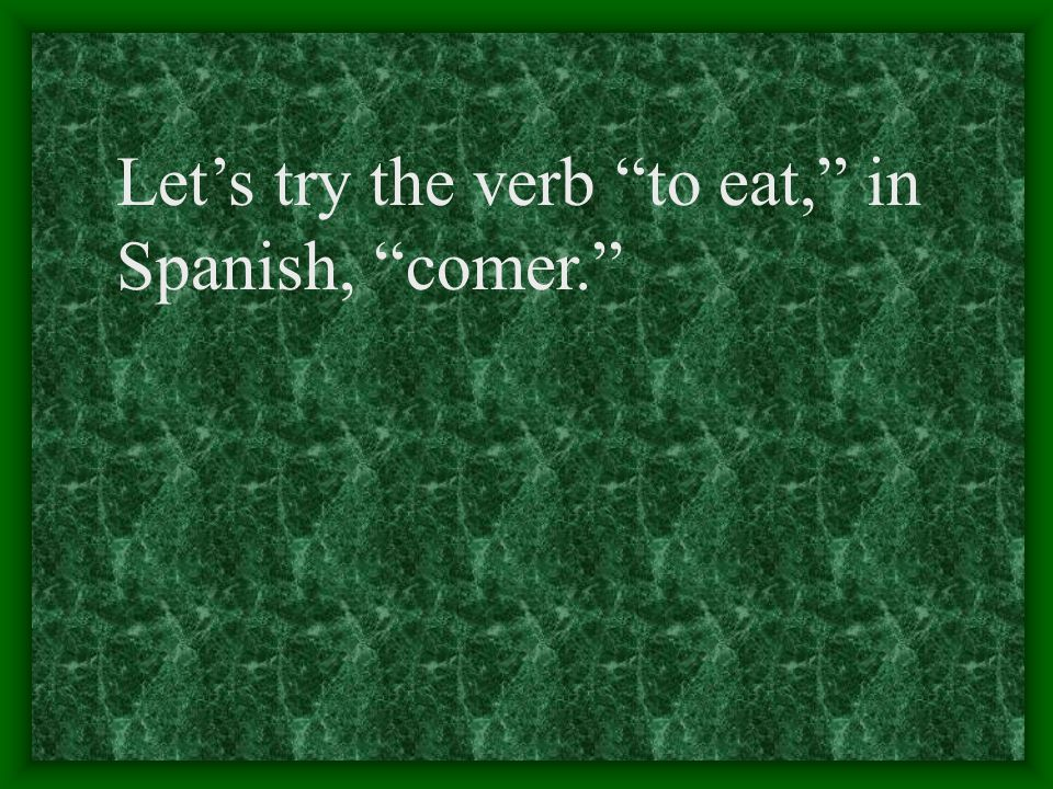 "The pattern for -er verbs is much like the pattern for -ar verbs. The only difference is, instead of using ""a"" you use ""e."""