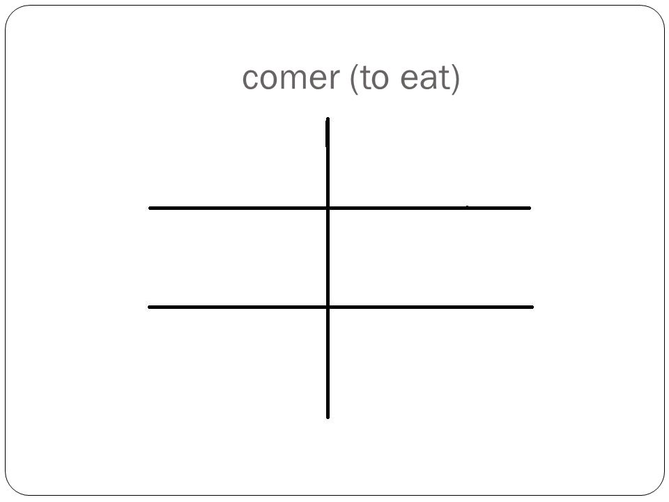 comer (to eat)