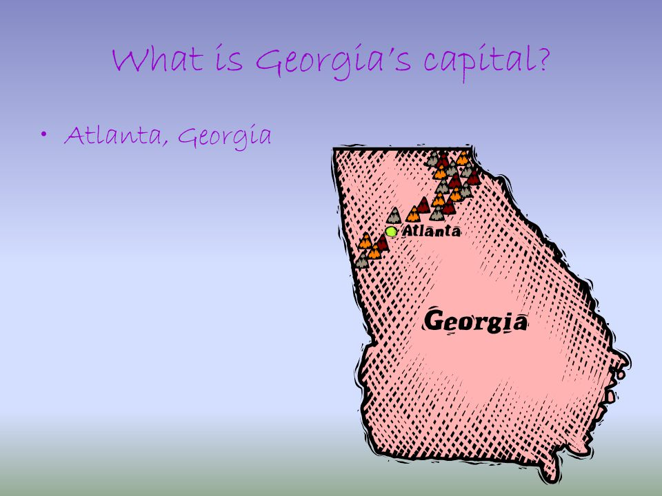 What is Georgia's capital Atlanta, Georgia