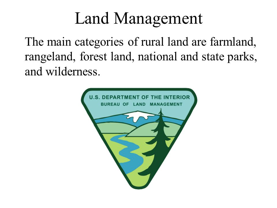 We have sometimes managed these lands sustainably so that they will provide resources indefinitely.