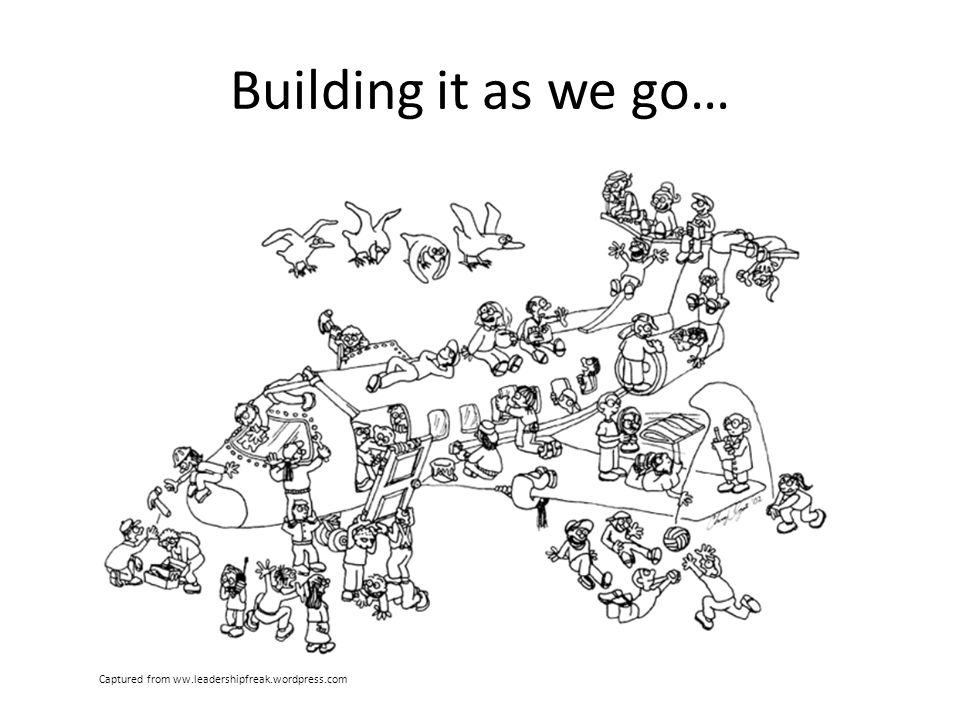 Building it as we go… Captured from ww.leadershipfreak.wordpress.com