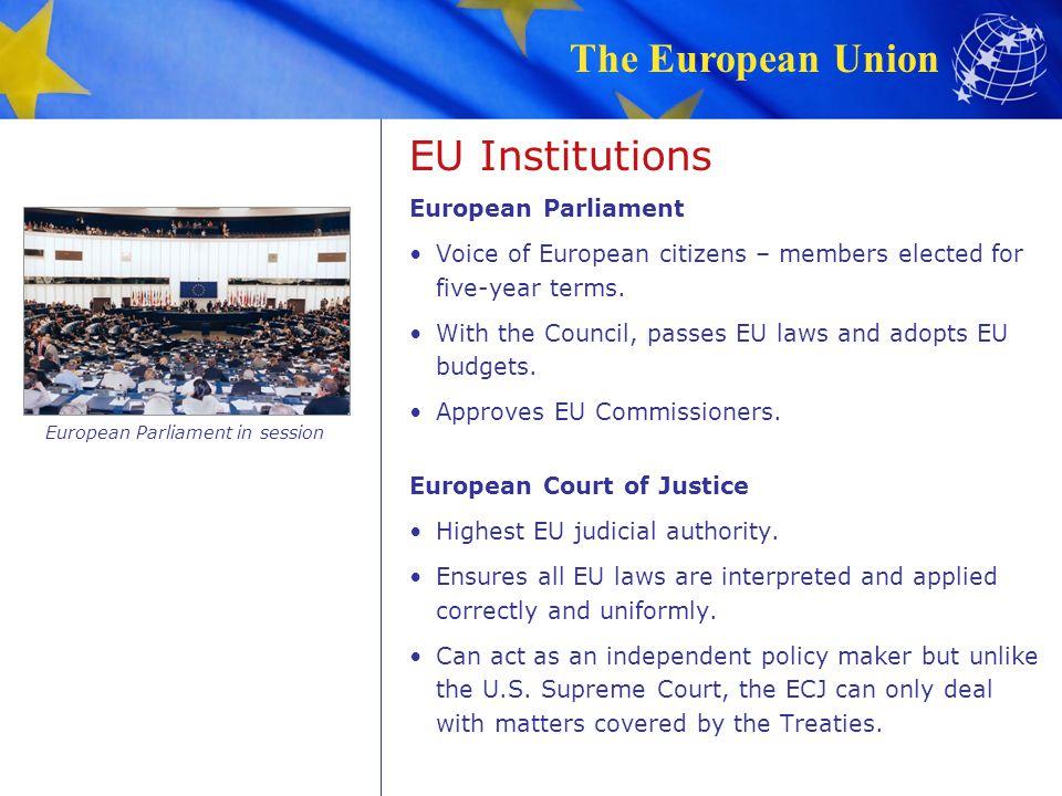 The European Union Education & Research EU and U.S.