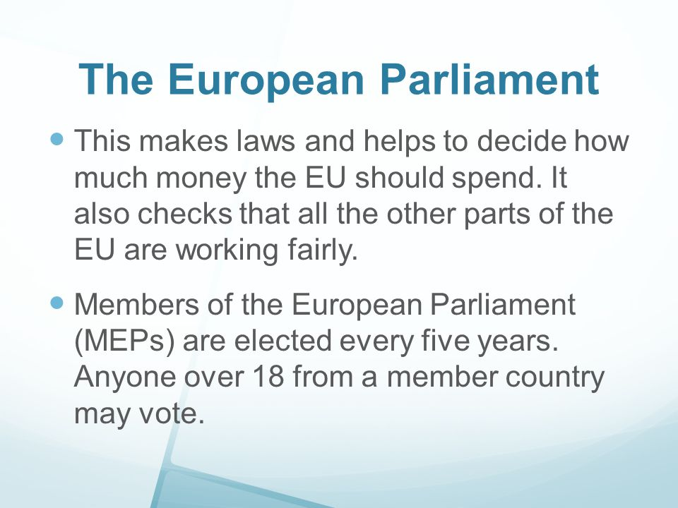 Council of the European Union This is where the EU s big decisions are normally made.