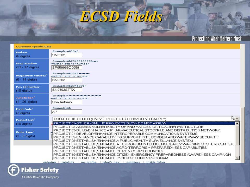 ECSD Fields