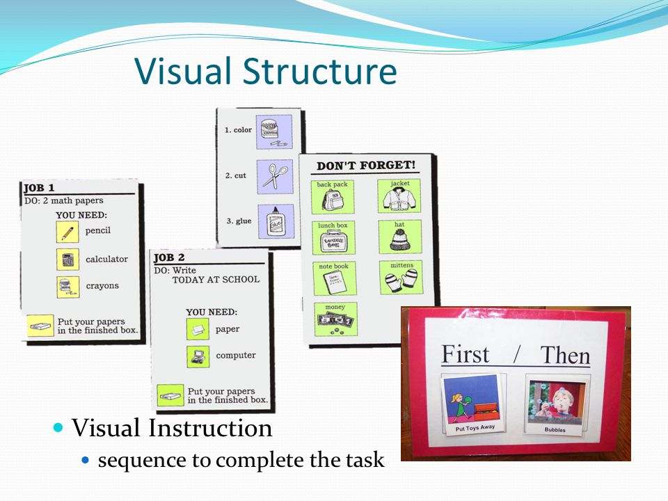 Visual Structure Visual Instruction sequence to complete the task