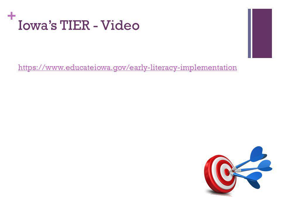 + Iowa's TIER - Video https://www.educateiowa.gov/early-literacy-implementation