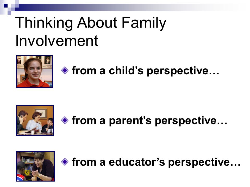 A Working Definition of Family Involvement A wareness I nvolvement S upport