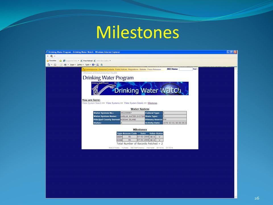 Milestones 26